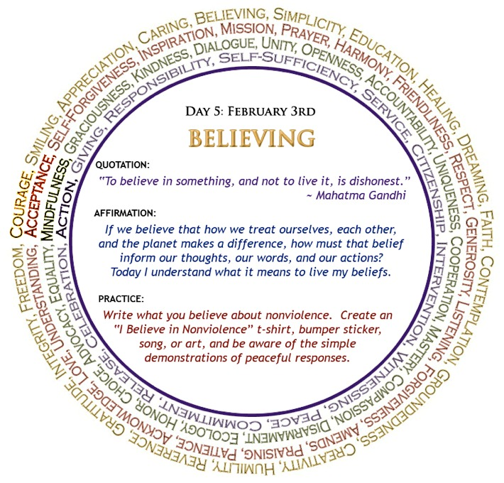 Season for Non-Violence Day 5: Believing